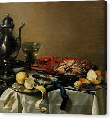 Still Life Canvas Print by Pieter Claesz