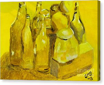 Still Life Study In Yellow Canvas Print by Greg Mason Burns