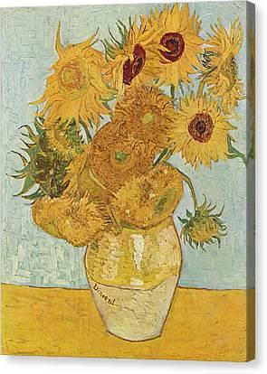 Still Life Sunflowers Canvas Print by Vincent Van Gogh
