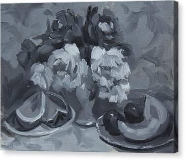 Still Life Tonal Study Canvas Print by Diane McClary