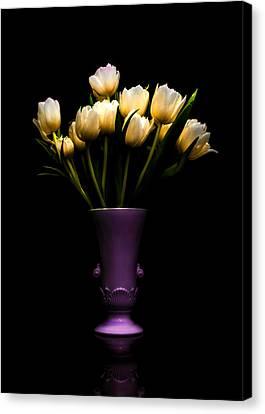 Still Life - White Tulips 2 Canvas Print