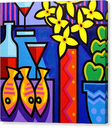 Still Life With 3 Fish  Canvas Print by John  Nolan