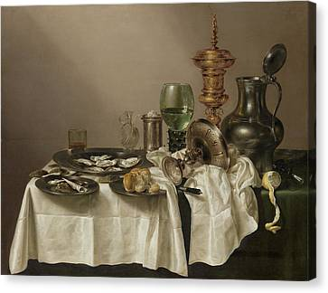 Still Life With A Gilt Cup Canvas Print by Quint Lox