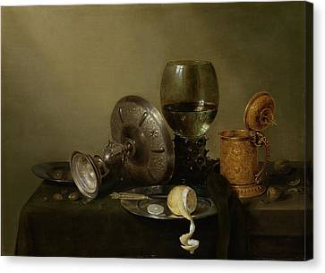 Still Life With A Gilt Cup Canvas Print by Willem Claesz Heda