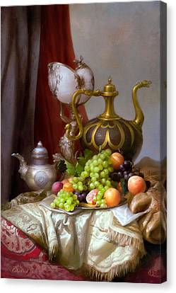 Still-life With A Glass Of Dutch Canvas Print by Sevrukov