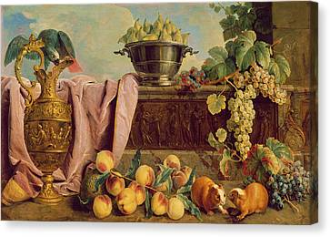 Still Life With A Jug, 1734 Oil On Canvas Canvas Print by Alexandre-Francois Desportes