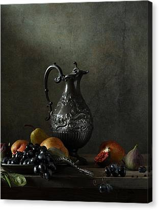 Still Life With A Jug And A Snake Canvas Print by Diana Amelina