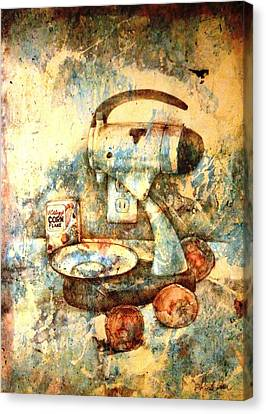 Still Life With Blender Canvas Print by Ron Carson