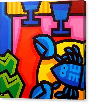 Still Life With Blue Lobster Canvas Print by John  Nolan