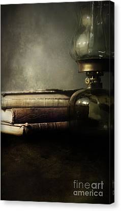Still Life With Books And The Lamp Canvas Print by Jaroslaw Blaminsky