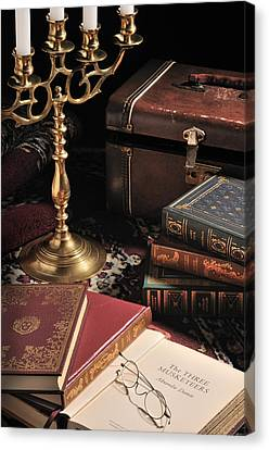 Canvas Print featuring the photograph Still Life With Books by Krasimir Tolev