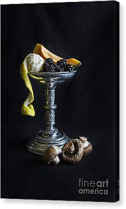 Still Life With Candle Holder Canvas Print by Elena Nosyreva