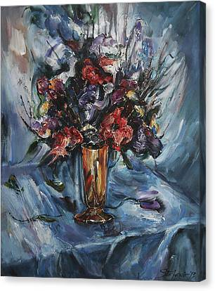 Still-life With Copper Vase Canvas Print
