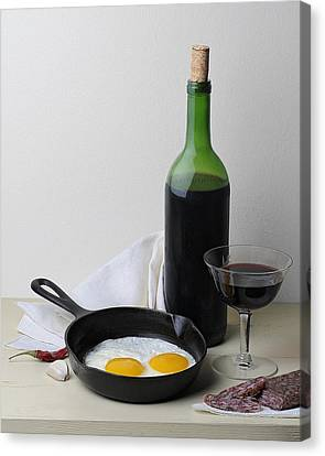 Still Life With Eggs Canvas Print by Krasimir Tolev