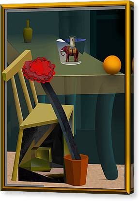 Still Life With Elephant Canvas Print