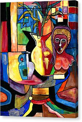 Still Life With Female Bust  Canvas Print by Everett Spruill