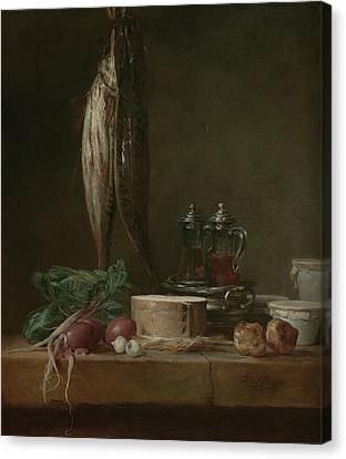 Still Life With Fish, Vegetables, Gougères Canvas Print by Litz Collection