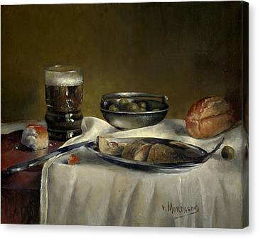 Still Life With Fish Canvas Print by Victor Mordasov