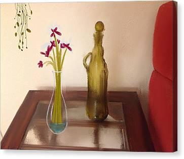 Still Life With Flowers Canvas Print by Dan Twyman