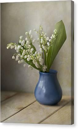 Still Life With Fresh Flowers Canvas Print by Jaroslaw Blaminsky