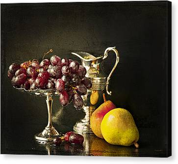 Still Life With Fruit Canvas Print by Theresa Tahara