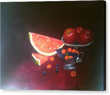 Oil Canvas Print - Still Life With  Fruits by John Davis