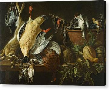 Still Life With Games And Vegetables Canvas Print