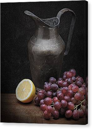 Canvas Print featuring the photograph Still Life With Grapes by Krasimir Tolev