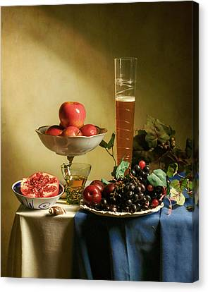 Still Life With Grapes  Canvas Print by Levin Rodriguez