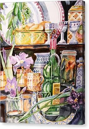Still Life With Irises Canvas Print by Trudi Doyle
