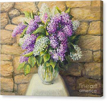 Still Life With Lilacs Canvas Print by Kiril Stanchev