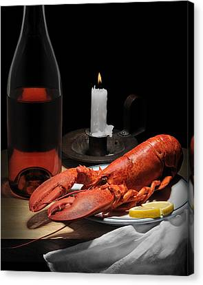 Canvas Print featuring the photograph Still Life With Lobster by Krasimir Tolev