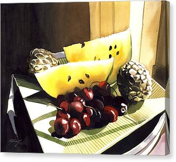 Lif Canvas Print - Still Life With Melon by Alfred Ng