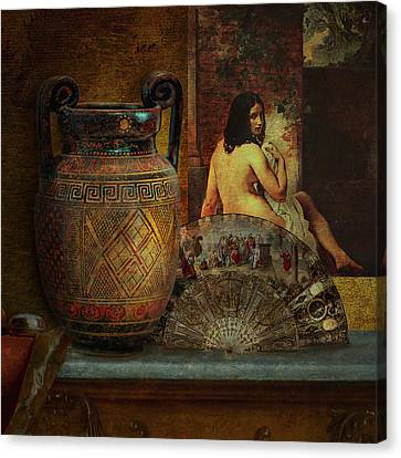 Still Life With Nude Canvas Print by Jeff Burgess