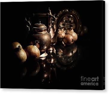 Still Life With Onions Canvas Print by Jaroslaw Blaminsky