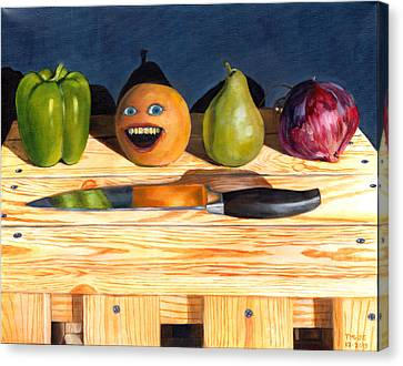 Still Life With Orange No. 1 Canvas Print