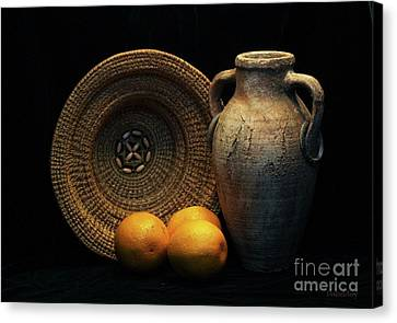 Canvas Print featuring the photograph Still Life With Oranges by Dodie Ulery
