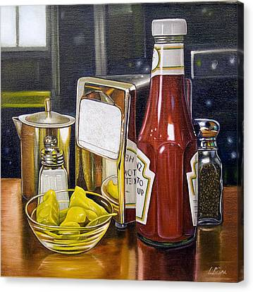 Baseball Glove Canvas Print - Still Life With Peppers by Vic Vicini