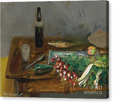 Still Life With Radishes Canvas Print by Celestial Images