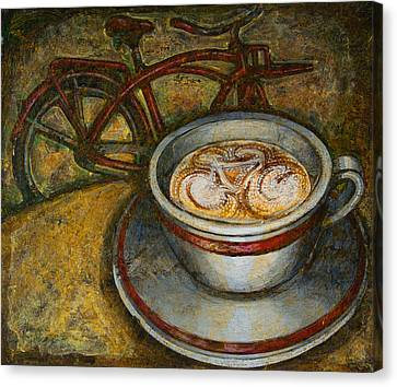 Still Life With Red Cruiser Bike Canvas Print by Mark Jones