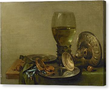 Still Life With Roemer And Silver Tazza Canvas Print by Litz Collection