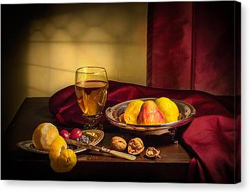 Still Life With Roemer-pears Canvas Print by Levin Rodriguez