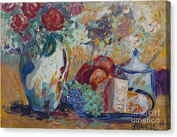 Still Life With Roses Canvas Print by Avonelle Kelsey