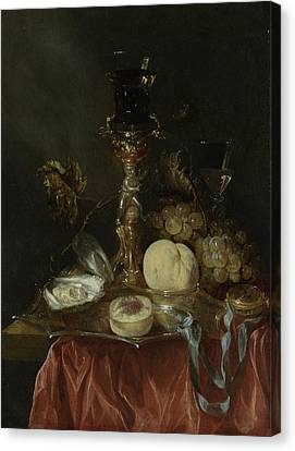Still Life With Silver-gilt Bekerschroef With Roemer Canvas Print by Litz Collection