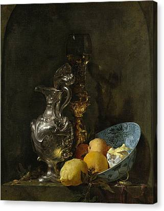 Still Life With Silver Pitcher Canvas Print