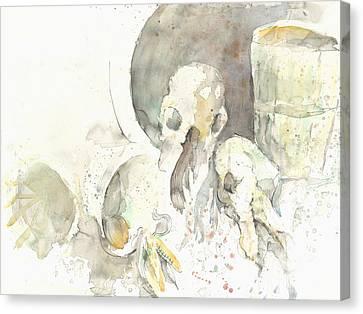 Still Life With Skulls Canvas Print