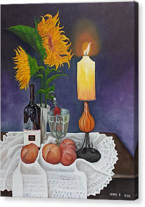 Still Life With Sunflowers Canvas Print by Sunny  Kim