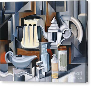 Still Life With Teapots Canvas Print by Catherine Abel