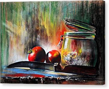 Still Life With Tomatoes Canvas Print by James Skiles