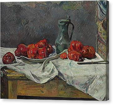 Apple Canvas Print - Still Life With Tomatoes by Paul Gauguin